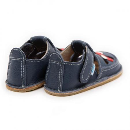 Sandale copii, smokey sky cu avion, Dodo Shoes2