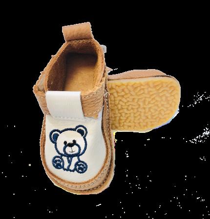Pantofi maroniu cu ursuleț, Macco