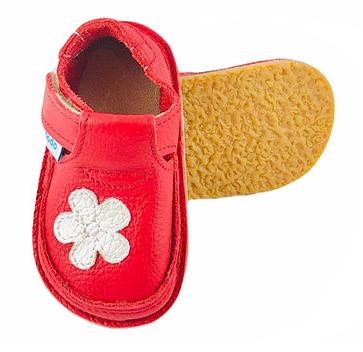 Pantofi rosii cu floare alba, Dodo Shoes0