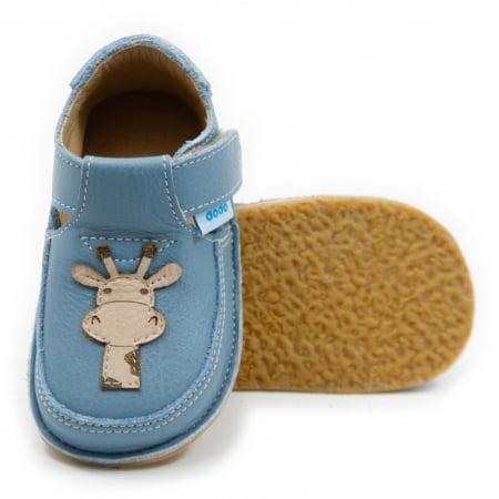 Pantofi baby blue cu girafa, Dodo Shoes0