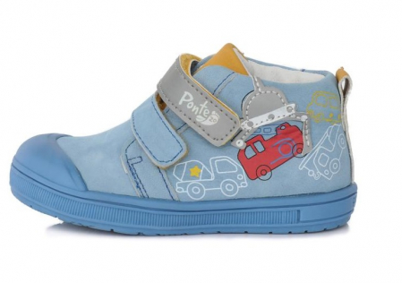 Pantofi sport albastri cu elemente reflectorizante D.D.Step - Ponte 200