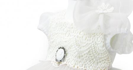 Rochie de Botez pentru Fetite, stil Printesa, roz pudra, TinTin Shop [4]