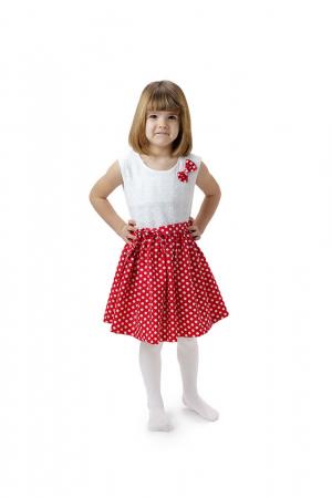 Rochie fete Minnie, rosie cu buline albe, TinTin Shop0