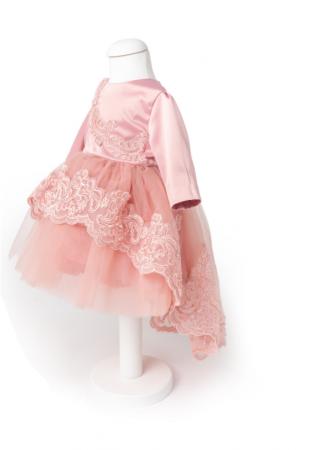 Rochie Sonia roz pudră pentru botez sau turtă