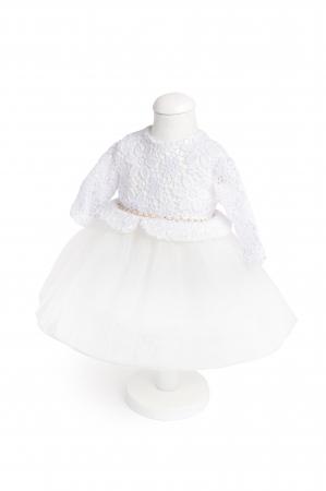 Rochie Star albă pentru botez sau turtă, TinTin shop
