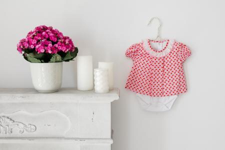 Body rochita pentru fete, rosu cu roz, TinTin Shop [0]