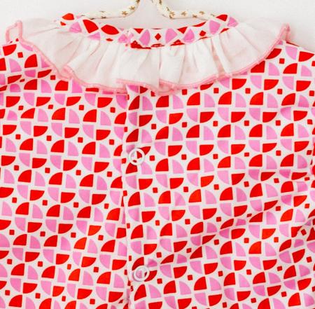 Body rochita pentru fete, rosu cu roz, TinTin Shop [2]