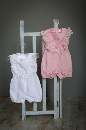 Salopeta alba din in pentru bebelusi, TinTin Shop [1]