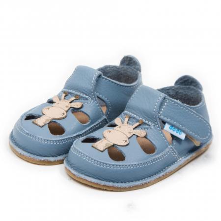 Sandale copii Baby Blue cu Girafa, Dodo Shoes1