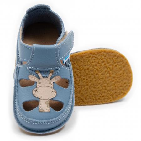 Sandale copii Baby Blue cu Girafa, Dodo Shoes0