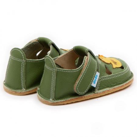 Sandale copii verzi cu ratusca, Dodo Shoes2