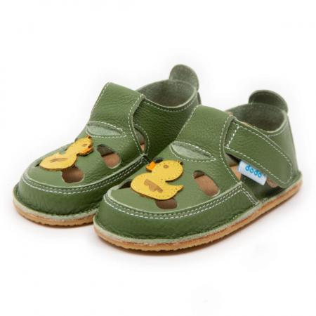 Sandale copii verzi cu ratusca, Dodo Shoes1