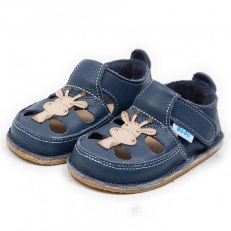 Sandale baieti Smokey cu Girafa, Dodo Shoes [2]