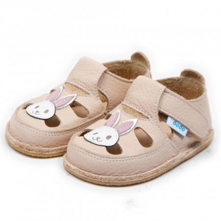 Sandale crem cu iepuras, Dodo Shoes1