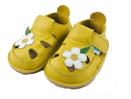 Sandale Galben Wild Flower, Dodo Shoes [1]