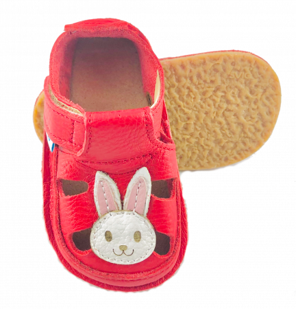 Sandale Roșii cu Iepuraș, Dodo Shoes0