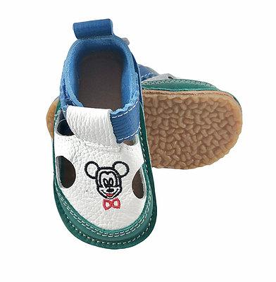 Sandale verzi cu calcai albastru Mickey, Macco [0]