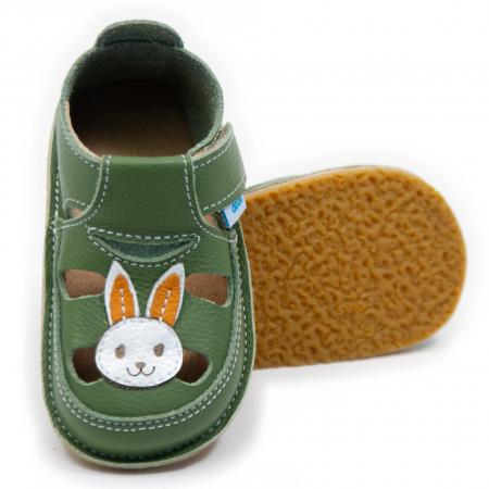 Sandale verzi cu iepuras, Dodo Shoes0