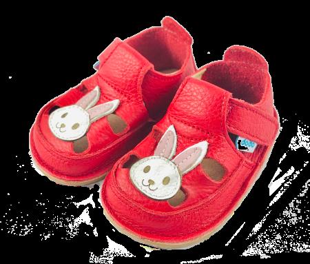Sandale Roșii cu Iepuraș, Dodo Shoes1