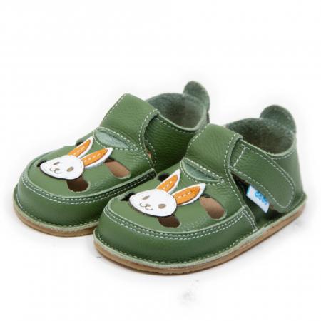 Sandale verzi cu iepuras, Dodo Shoes1