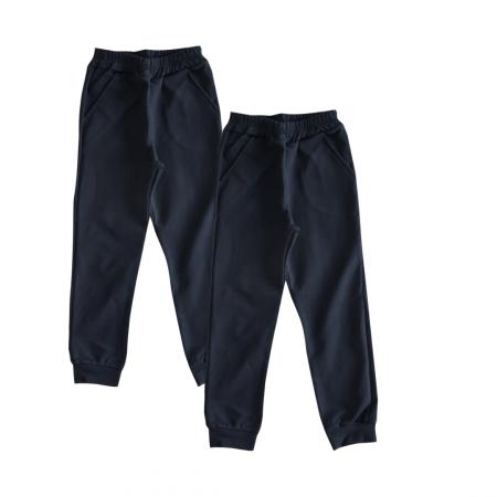 Set 2 Pantaloni Trening Copii, Stil Jogging Bleumarin, Scoala, TinTin Shop [0]