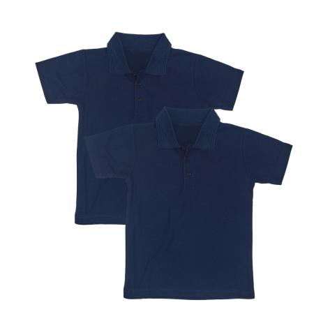 Set 2 Bluze Polo Mâneca Scurta Copii, Bleumarin, Scoala, TinTin Shop
