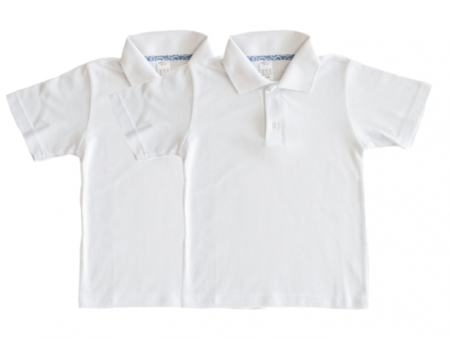 Set 2 tricouri polo scoala cu maneca scurta, TinTin Shop