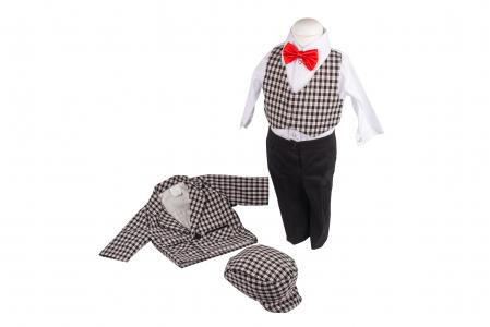 Set botez baieti Black and White, costum, lumanare, trusou, TinTin Shop2