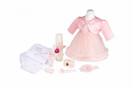 Set botez Dream basic, compus din rochie, trusou și lumânare0
