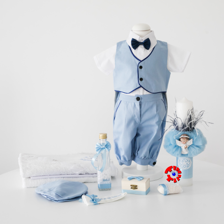 Set Botez Complet din In Pentru Baiat, Blue Summer, TinTin Shop [0]