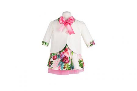 Set botez Joy basic, compus din rochie, pelerina, trusou și lumânare TinTin Shop1