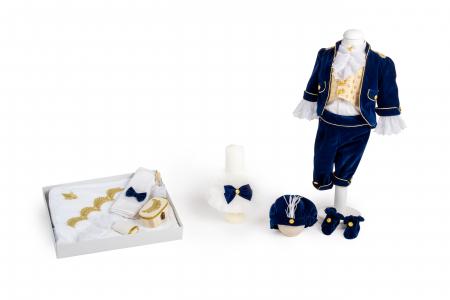 Costum Micul Print din catifea albastra, TinTin Shop0