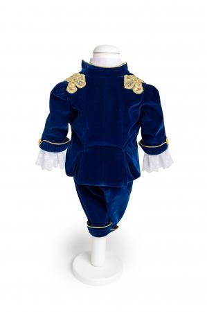 Costum Micul Print din catifea albastra, TinTin Shop2