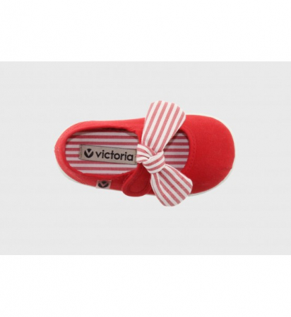 Balerini rosii cu Velcro, Victoria Calzados [2]
