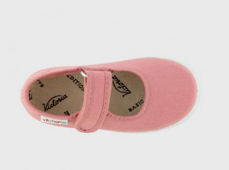 Balerini roz cu Velcro, Victoria Calzados [2]