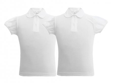 Set 2 tricouri polo fata scoală cu mâneca bufanta, TinTin Shop
