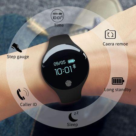 Bratara fitness, inteligenta dama, Sanda, OLED, Ritm cardiac, GPS, Bluetooth 4.0, Ecran 0.66 INCH, Pedometru, Alerta sedentarism, Monitorizare somn, Baterie Li-Ion, IOS/Android 2