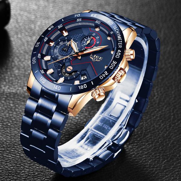 Ceas barbatesc Business Elegant Cronograf Elegant Otel Inoxidabil Quartz 3