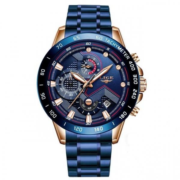 Ceas barbatesc Business Elegant Cronograf Elegant Otel Inoxidabil Quartz 1