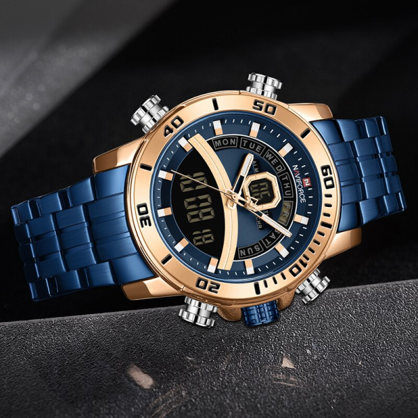 Ceas barbatesc Casual Dual Time Luxury Naviforce Cronograf Quartz Digital 2