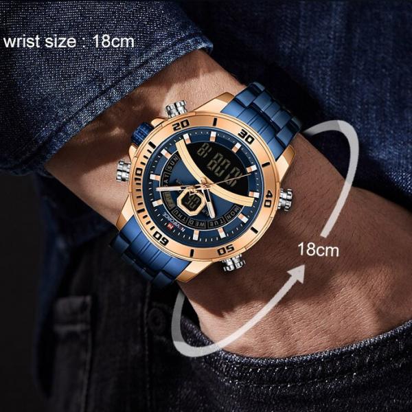 Ceas barbatesc Casual Dual Time Luxury Naviforce Cronograf Quartz Digital 5