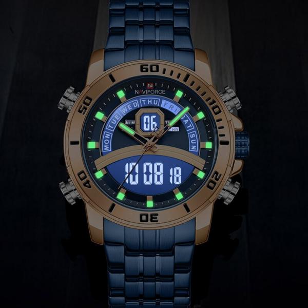 Ceas barbatesc Casual Dual Time Luxury Naviforce Cronograf Quartz Digital 4