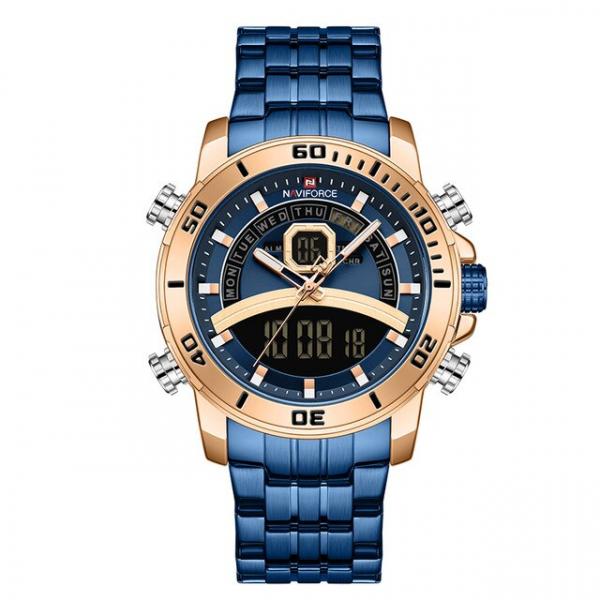Ceas barbatesc Casual Dual Time Luxury Naviforce Cronograf Quartz Digital 1