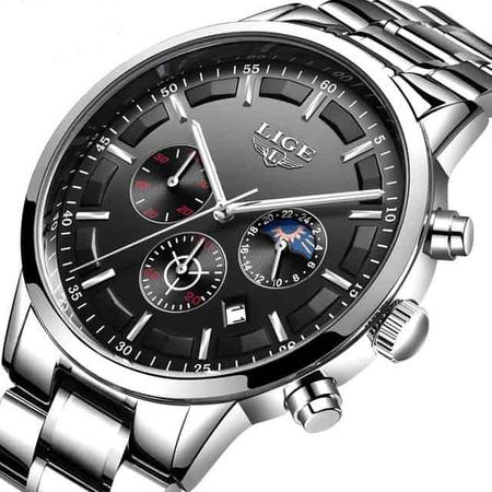 Ceas Barbatesc, Lige, Analog, Luxury, Business, Elegant, Mecanism Quartz, Calendar, Cronometru 2