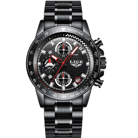 Ceas barbatesc, Lige, Business, Luxury, Elegant, Quartz, Cronograf, Calendar, Rezistenta la apa 3ATM 1