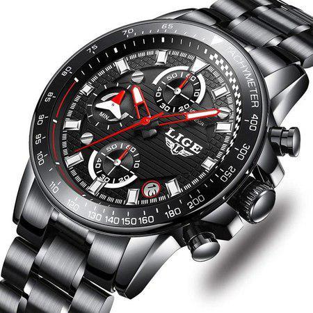 Ceas barbatesc, Lige, Business, Luxury, Elegant, Quartz, Cronograf, Calendar, Rezistenta la apa 3ATM 2