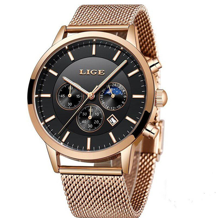 Ceas barbatesc, Lige, Elegant, Luxury, Business, Mecanism Quartz, Cronograf, Otel inoxidabil [1]