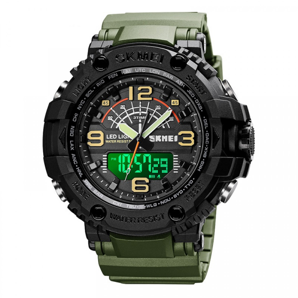 Ceas barbatesc Militar Army Digital Dual time Quartz PU 0