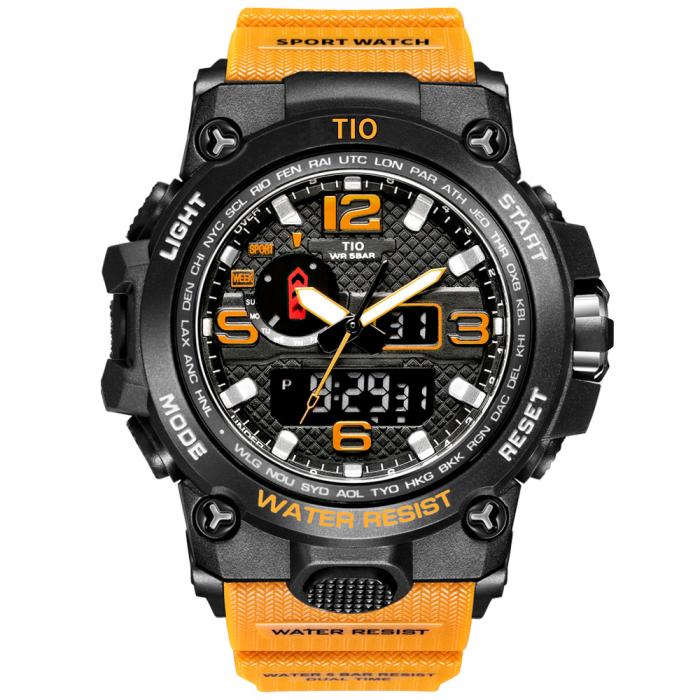 Ceas barbatesc Miltar TIO Cronograf Sport Digital Quartz Army Rezistent la socuri si apa [0]