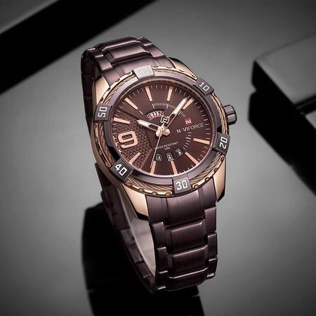 Ceas barbatesc, NaviForce, Elegant, Business, Mecanism Quartz Japonez Seiko multifunctional, Afisaj analog 6